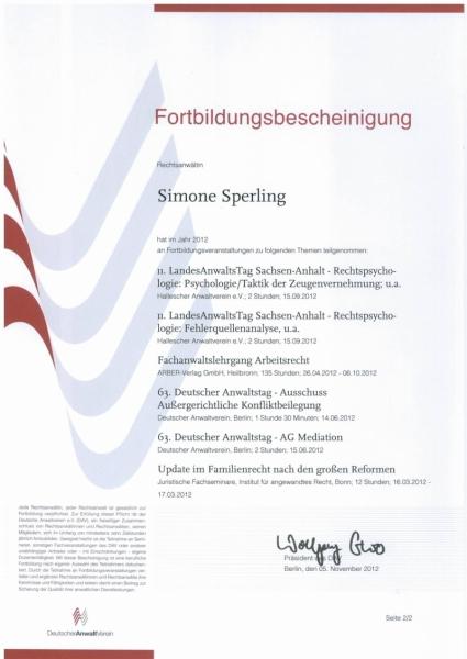 Fortbildung Anwaltsverein 2012 II