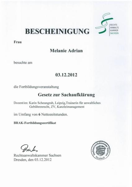 Neuerungen Zwangsvollstreckung ab 01.01.2013
